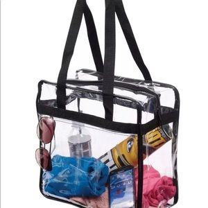 Handbags - Clear PVC Crystal Transparent Tote Bag